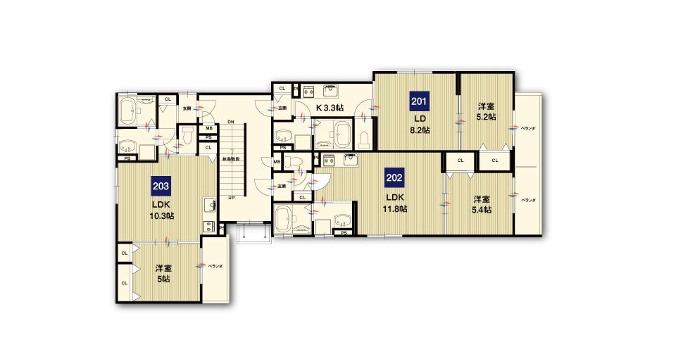 摂津市東正雀収益新築マンション2F
