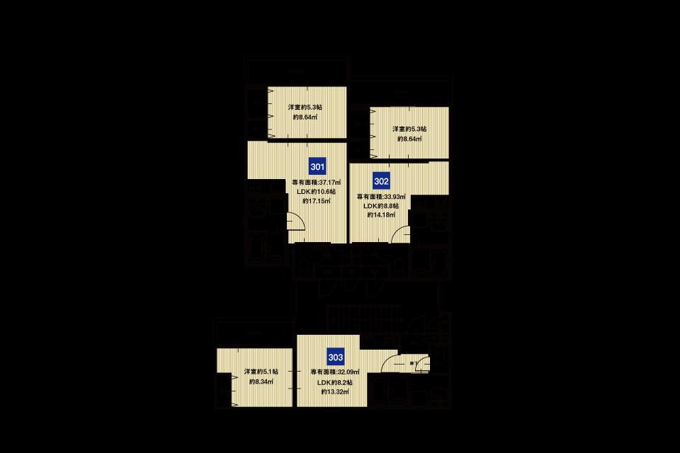 淀川区加島4丁目A棟収益新築マンション3F