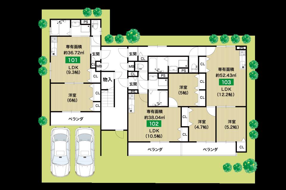堺市桜之町1丁収益新築マンション1F