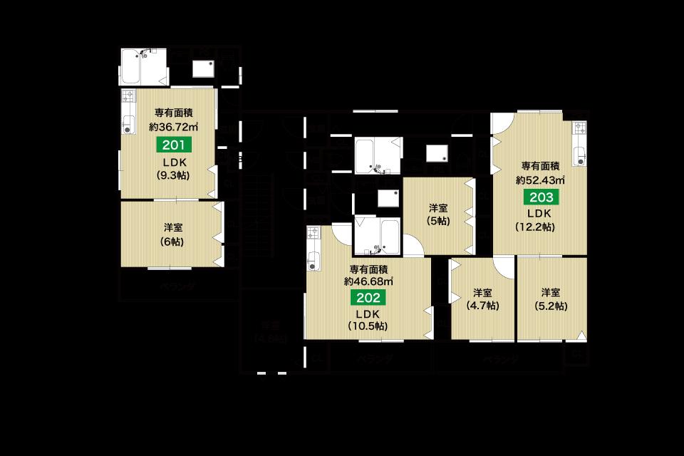 堺市桜之町1丁収益新築マンション2F