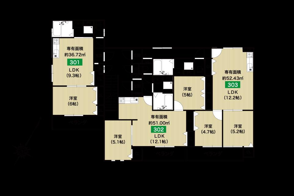 堺市桜之町1丁収益新築マンション3F