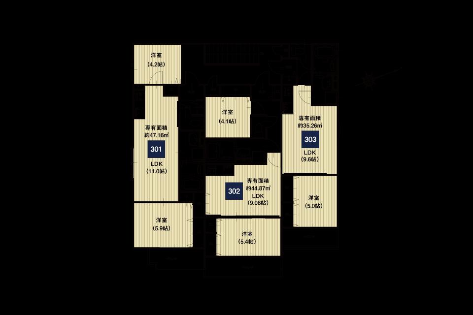堺市桜之町1丁収益新築マンションB棟3F