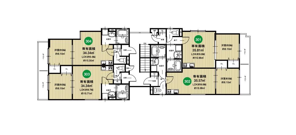 淀川区田川北2丁目収益新築マンション3F
