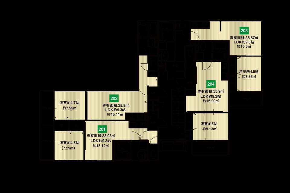 東大阪市若江東町収益新築マンション2F