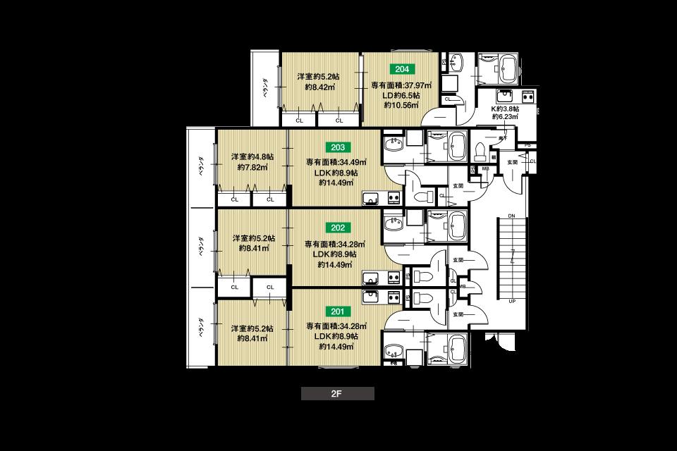 守口市八雲北3丁目収益新築マンション2F